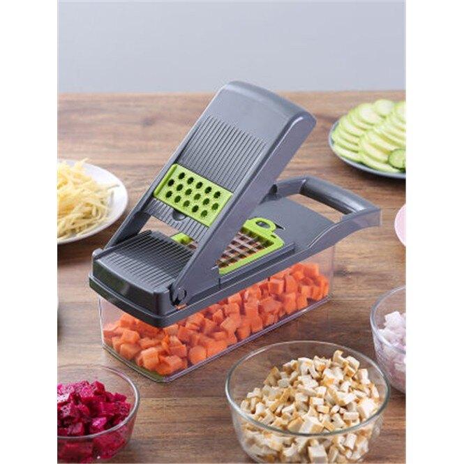 切丁神器家用多功能切菜器洋蔥切丁粒蔬菜刨絲器擦薯格土豆切片器