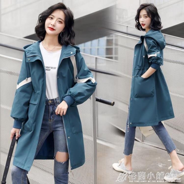 風衣外套 風衣中長款小個子女士新款外套春秋百搭大衣洋氣秋裝英倫風