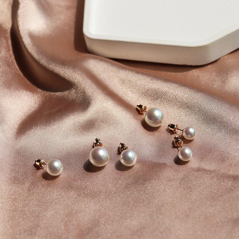氣質款S925銀針光澤仿珍珠耳釘溫柔精致百搭簡約復古高級感耳環1入
