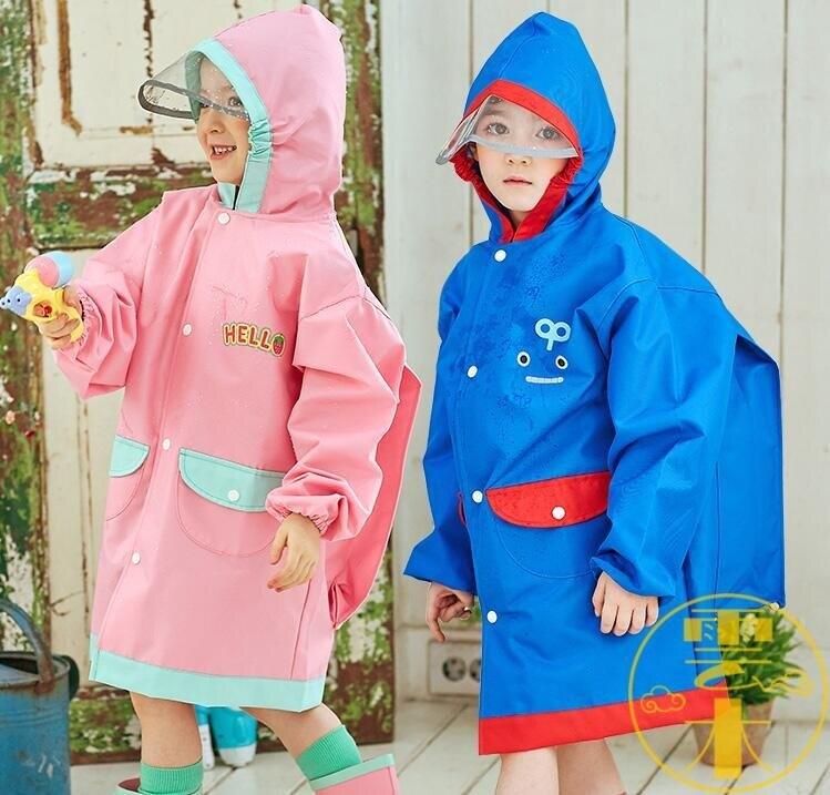 兒童雨衣男女童大小童斗篷式雨披帶書包位