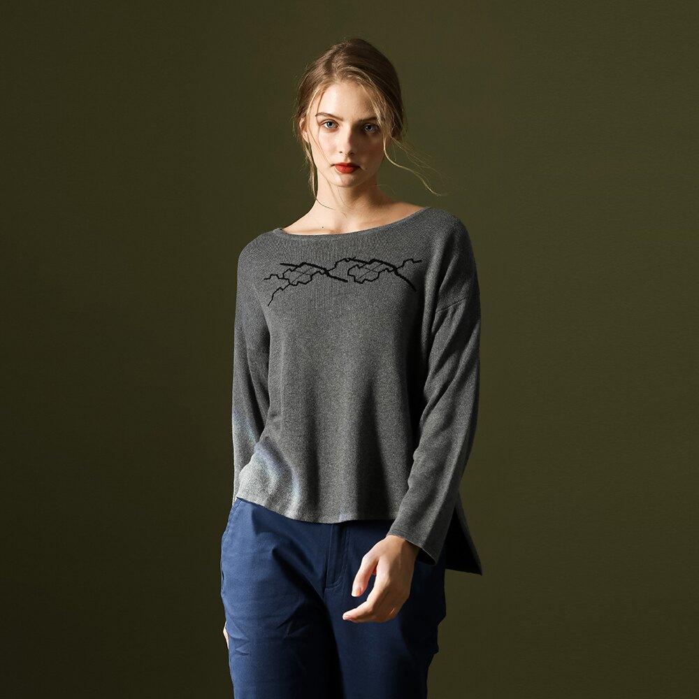 【MASTINA】前短後長圓領-針織衫(二色/魅力商品/版型適中)