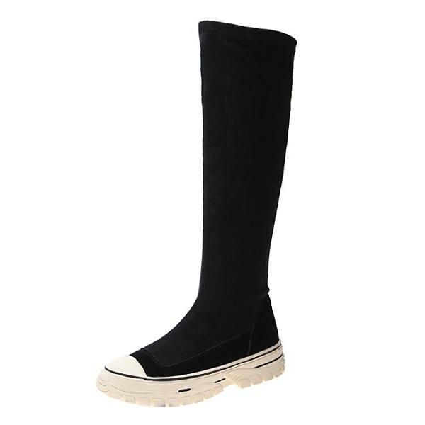 長靴 加絨靴子女秋款高筒小個子長靴網紅中筒靴百搭短靴不過膝靴冬 風尚