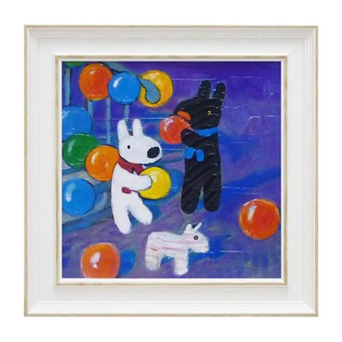 《麗莎和卡斯柏》中型含框複製畫-氣球