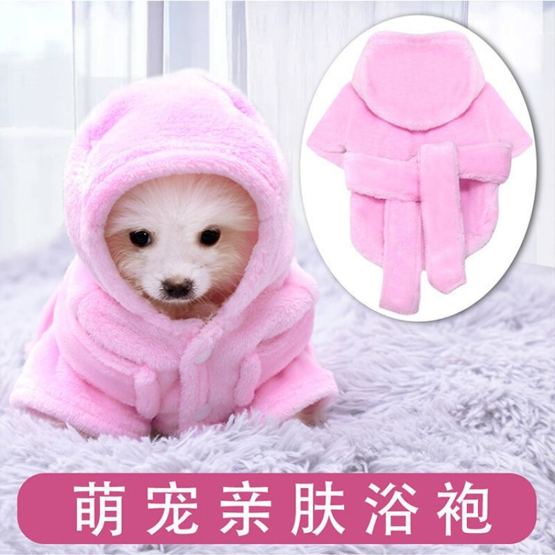 寵物睡衣/睡袍 2020新品寵物衣服睡衣狗狗泰迪幼犬浴袍法蘭絨浴衣比熊斗牛犬服飾【DD32033】
