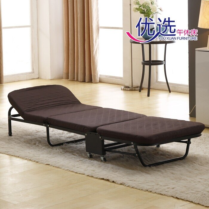 摺疊躺椅 加固摺疊床辦公室午休床睡椅簡易單人午睡床陪護床海綿行軍床便攜 走心小賣場