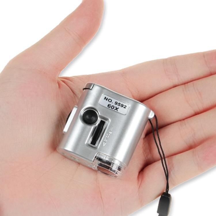 放大鏡60倍放大鏡帶LED燈高顯微鏡清集郵珠寶茶葉煙郵票鑒定驗鈔便攜式春季新品