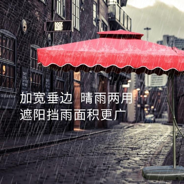 戶外遮陽傘大號庭院傘保安傘擺攤大傘太陽傘晴雨傘摺疊崗亭沙灘傘 WD 時尚學院