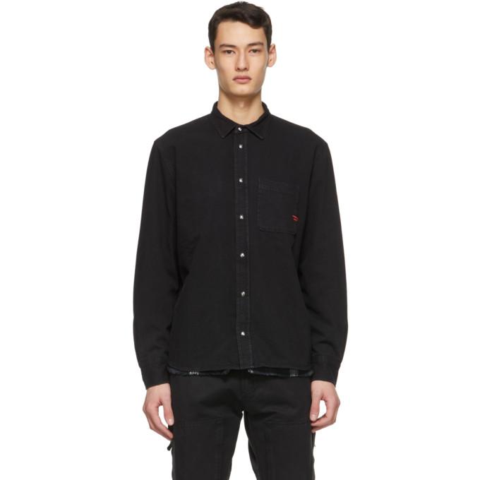 Diesel 黑色 D-Wear-B1 双面衬衫