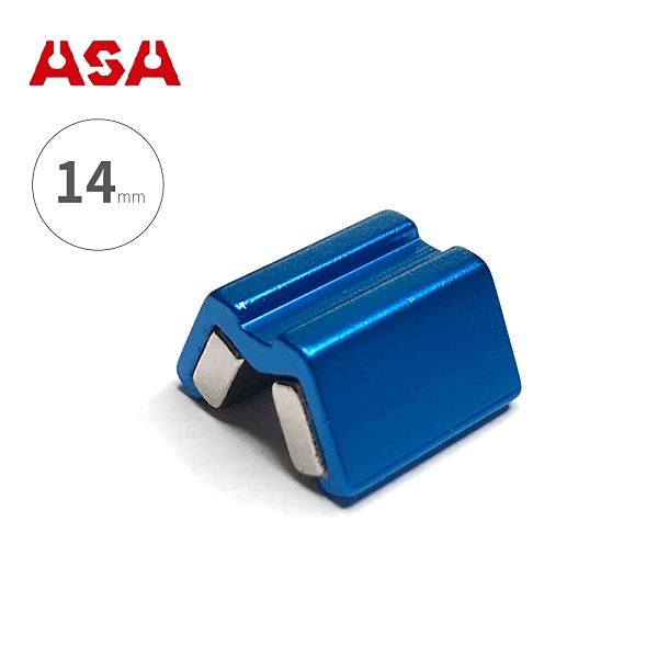 台灣製ASA【螺絲吸住器-14mm / 藍色】MSH14 增磁消磁器 固定器 六角起子頭 起子套筒 磁鐵螺絲吸住器