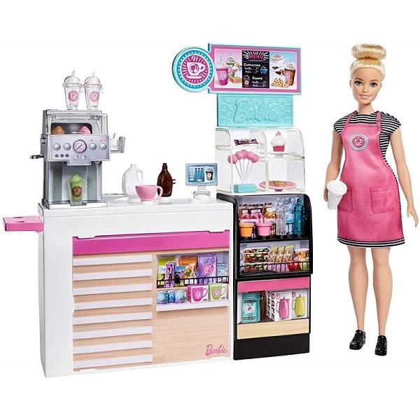 《 MATTEL 》芭比咖啡店組合連娃娃 / JOYBUS玩具百貨