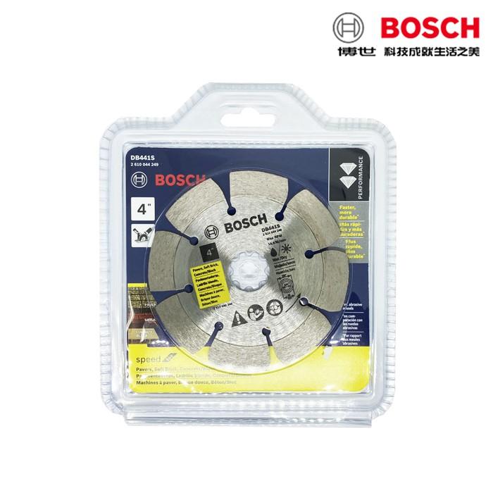 "BOSCH博世 DB411S 4""標準缺口邊鑽石鋸片 105×20/16mm 建材 105mm 厚度2mm"