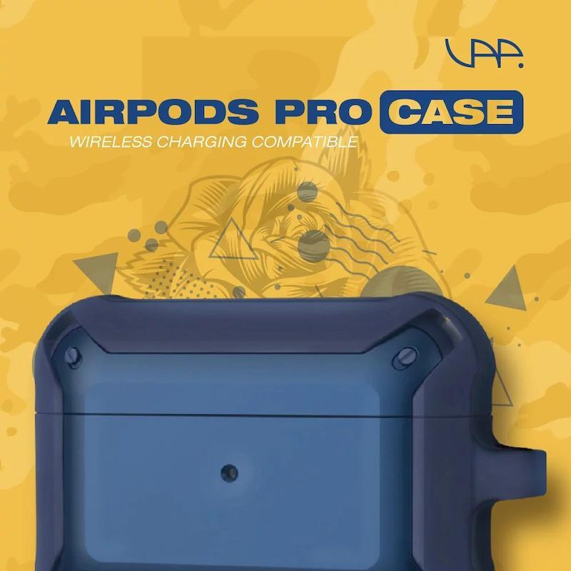 AirPods Pro 限量防摔組合(+10元多1件) 防摔殼(黑黑)*1+記憶泡棉耳塞 灰色 M (2對)