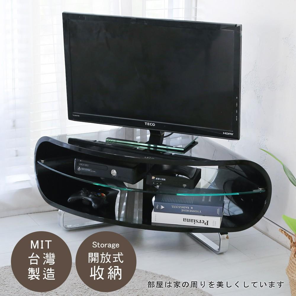 居家大師 角落鏡面鋼琴烤漆電視櫃 收納櫃 置物櫃 書櫃 收納架 邊桌 床頭櫃 TV014
