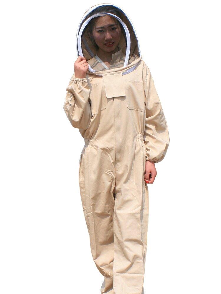 蜜蜂防蜂服連體服全套透氣棉布防護衣服加厚防蟄帶帽子養峰用 DF 科技藝術館