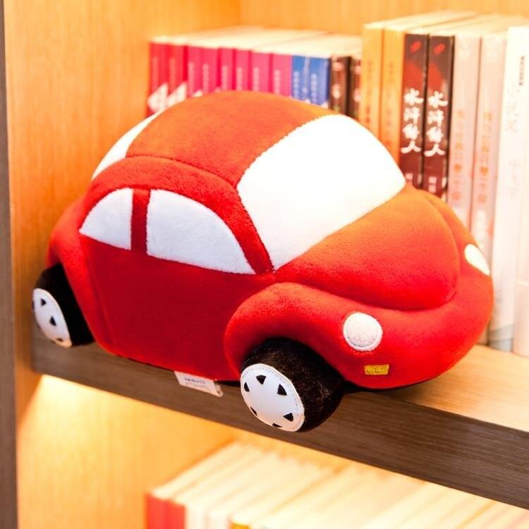 【618購物狂歡節】仿真公仔小汽車毛絨玩具布娃娃可愛兒童生日禮物