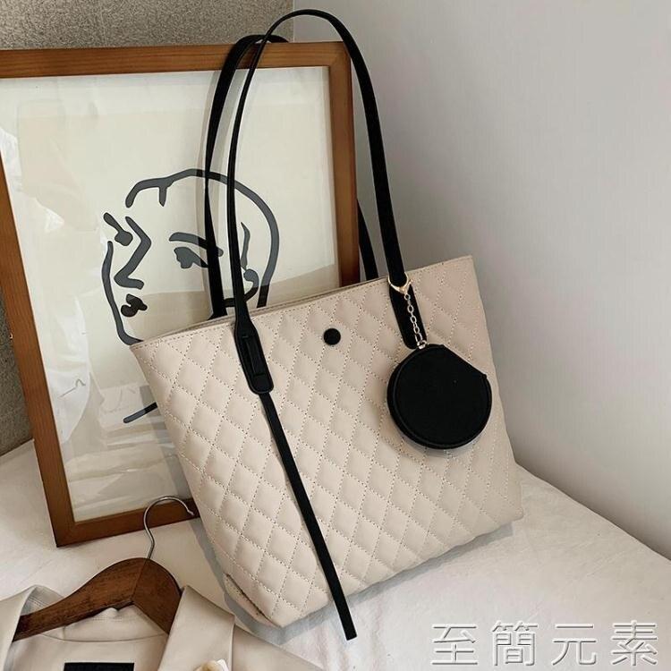 高級感網紅時尚大包包女士大容量單肩包新款潮百搭購物托特包
