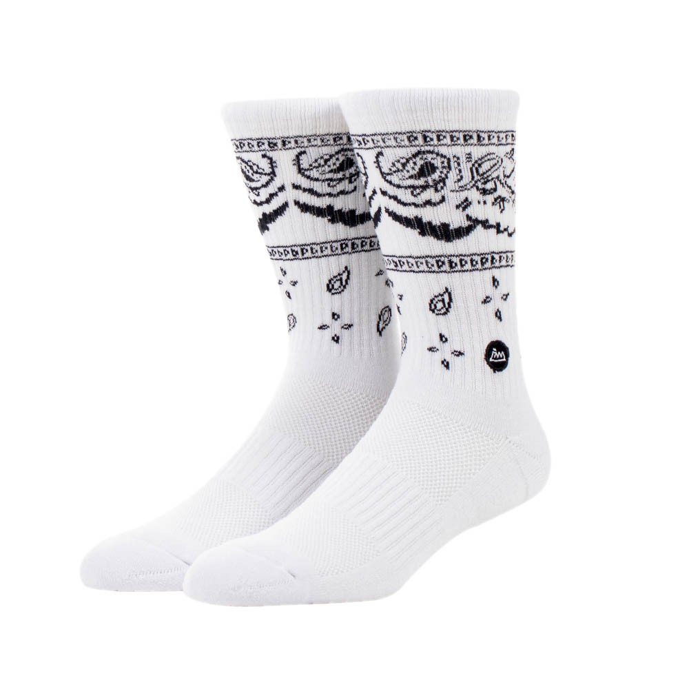 【FAAM】PAISLEY 淺白 - 中高筒運動休閒襪