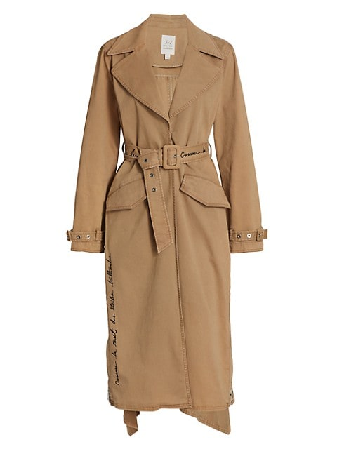Embroidered Sienna Trench Coat