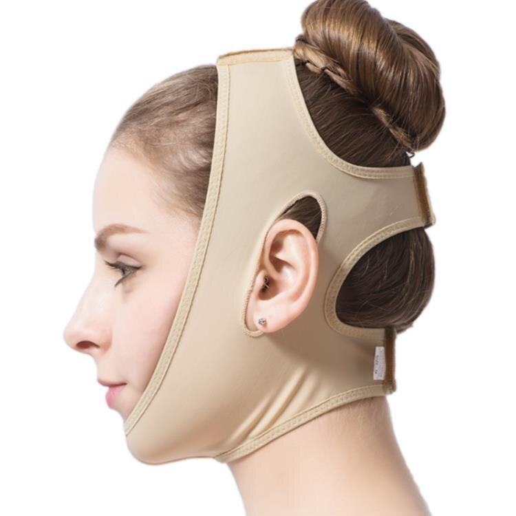 小v臉線雕頭套臉部術后恢復繃帶彈力面罩下頜下顎雙下巴提拉神器 薇薇