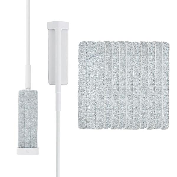 百潔 PERCENT-QUICK MOP_免手洗高效平板拖把x2+高纖效能替換拖布x10