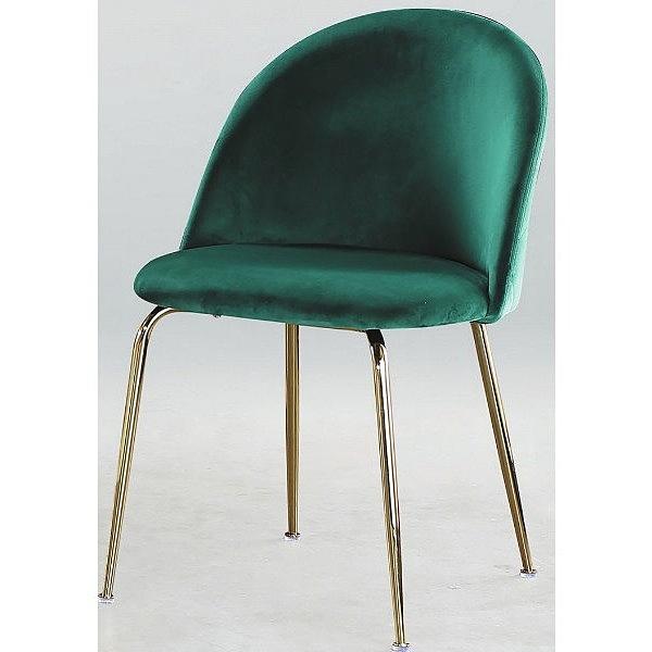 餐椅 PK-599-1 DC101絨布餐椅綠色 【大眾家居舘】