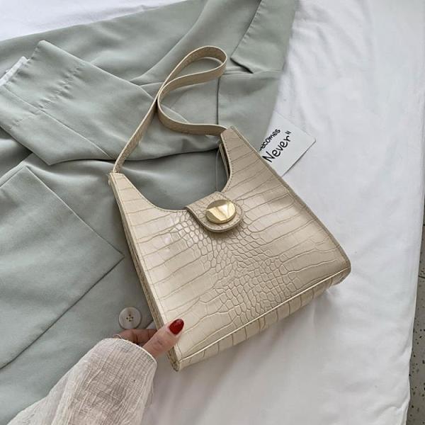 2021新品促銷 夏季小包包女包新款時尚簡約單肩包韓版百搭鱷魚紋手提包