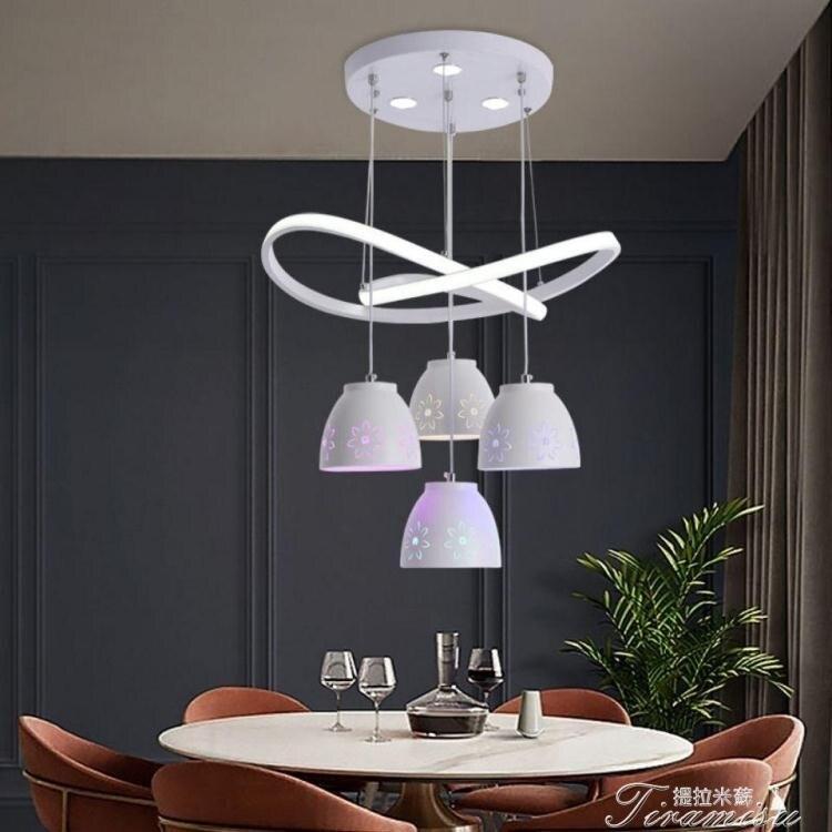 中式吊燈 餐廳燈新款餐廳吊燈LED現代簡約創意時尚飯廳大氣家用餐廳燈 YYS