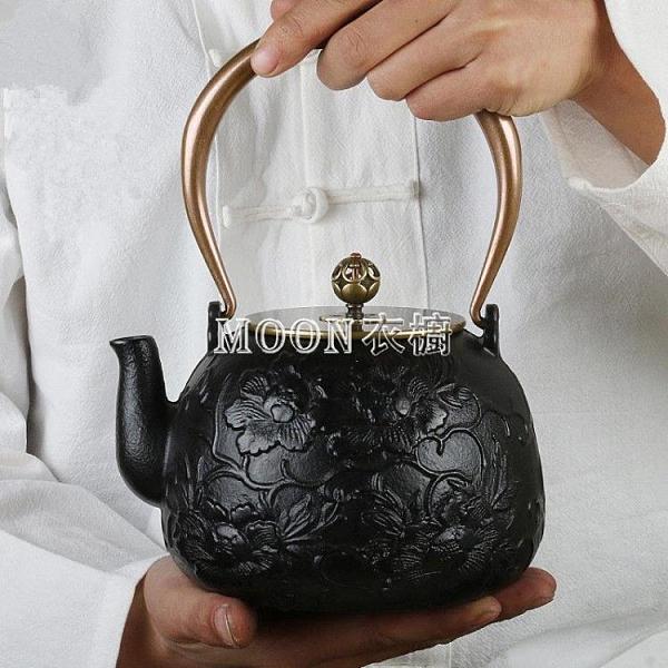 純手工鑄鐵壺日本南部蘭花鐵壺電陶爐煮茶器泡茶壺煮茶燒水壺套裝 SUPER SALE 快速出貨