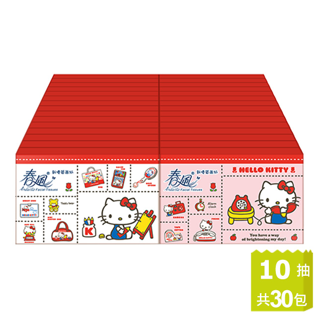 春風 Kitty袖珍包面紙(10抽x30包/串)
