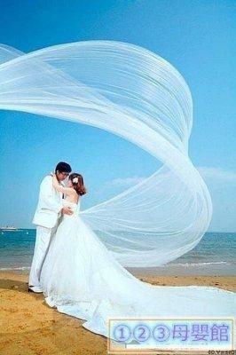 奇妙百貨館*5米新娘頭紗五米單層光紗有發梳海景拋紗S5J63