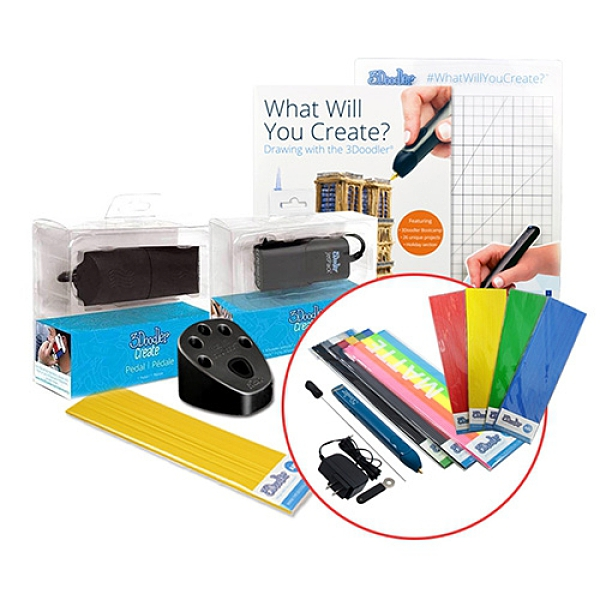 3Doodler Create PLUS 3D列印筆(旗艦升級工具組合)+3Doodler Create PLUS 3D列印筆+贈送5包顏料(隨機)