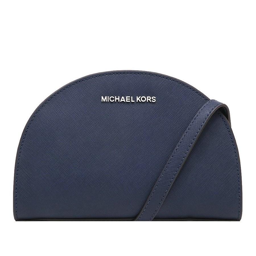 MICHAEL KORS 斜背包 側背包 十字紋防刮真皮 斜背包 側背包 M65990 深藍色MK(現貨)