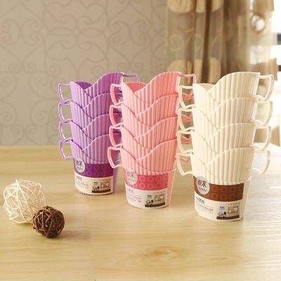 爆款--杯托一次性杯子杯套加厚塑料杯托防燙手隔熱創意紙杯架通用底座杯#生活用品#收納#清潔#套裝