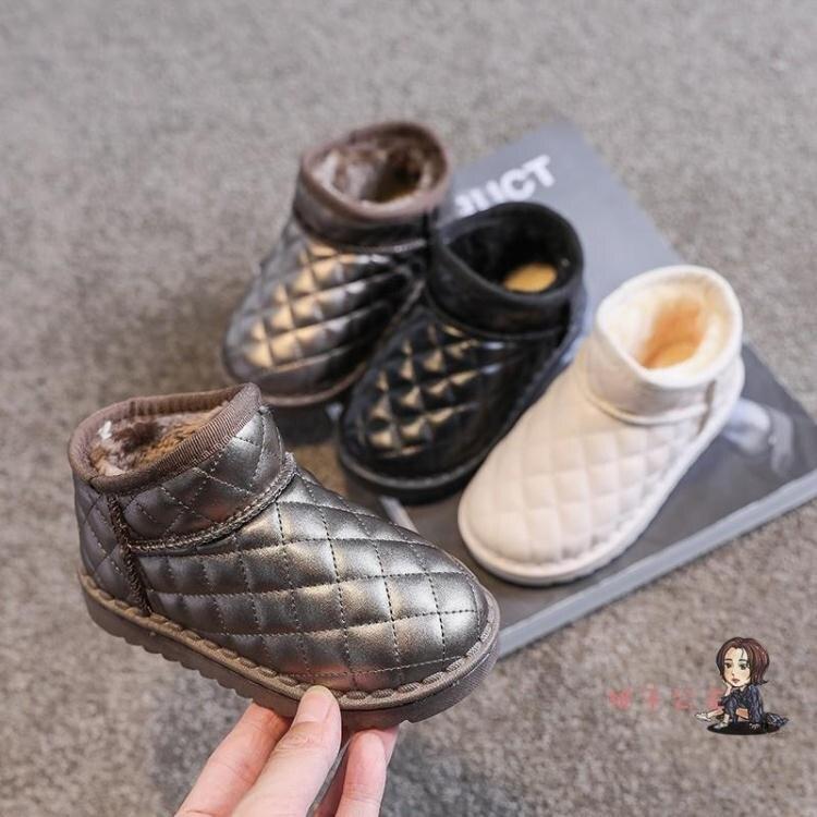 女童雪地靴 兒童棉鞋2020年冬季新款加厚刷毛 保暖雪地靴女童冬鞋軟底大棉鞋潮