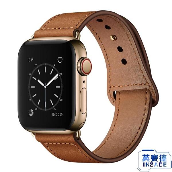 apple watch皮質表帶蘋果手表帶男女通用潮新透氣表帶【英賽德3C數碼館】