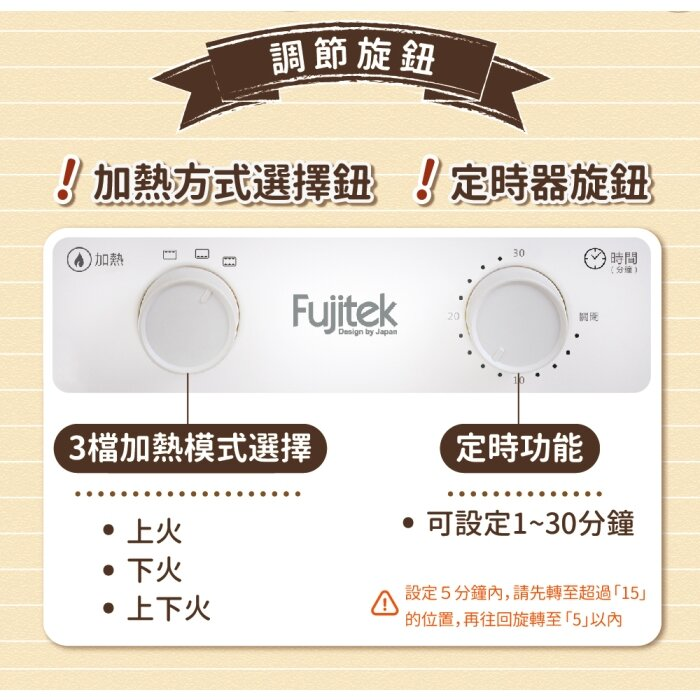 富士電通 12L立式雙層電烤箱 FTO-LN100 優富家電