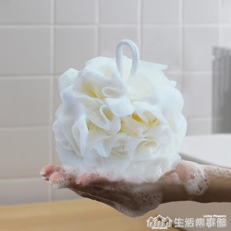Edo大號沐浴球浴花球高檔可愛不散泡澡球洗浴用品用具搓洗澡巾 時尚學院
