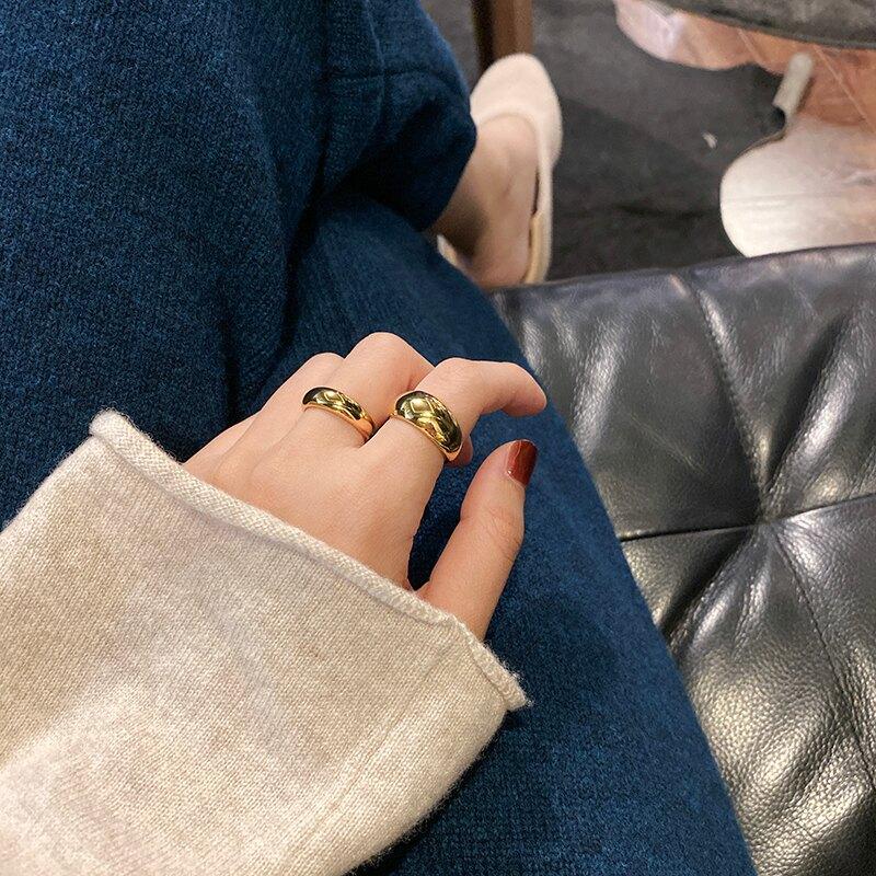 高保色INS風秋冬時髦疊戴戒指時尚簡約冷淡風氣質網紅1入