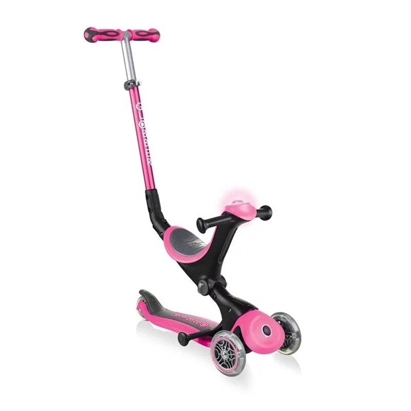 Globber 哥輪步 GO•UP 5合1豪華版滑板車(聲光版)-繽紛桃★衛立兒生活館★