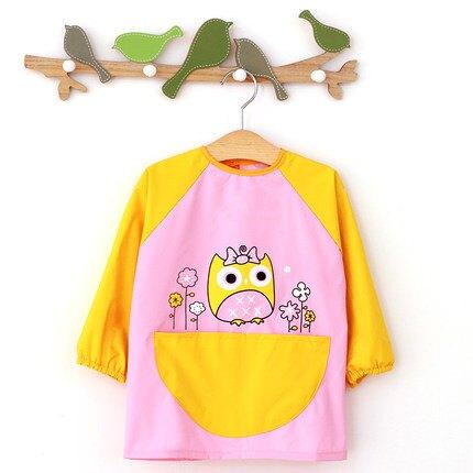 秋冬兒童畫畫衣長袖罩衣防水透氣反穿衣寶寶吃飯圍裙護衣春夏繪畫『J9543』