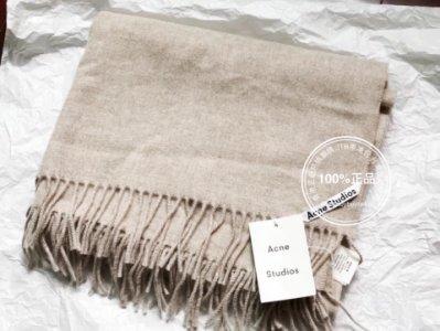 新標 現貨 燕麥色 正品瑞典 Acne Studios Canada 燕麥色 流蘇羊毛大圍巾 潮牌 BURBERRY