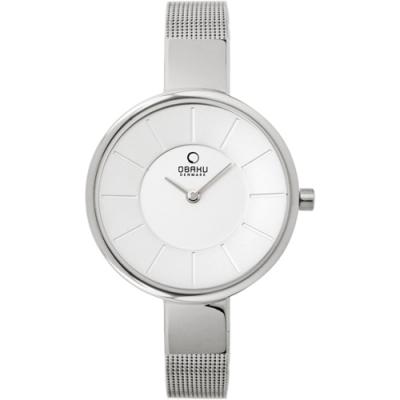 OBAKU 采麗時刻時尚腕錶-銀色-V149LCIMC1-32mm