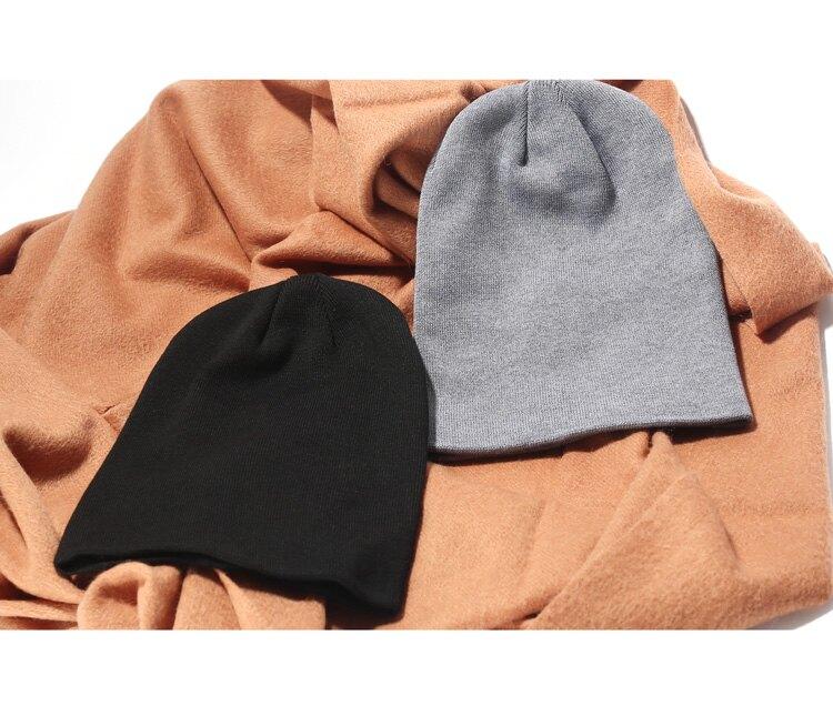 包頭帽男式毛線帽女款滑雪帽子男士針織帽秋冬季加厚保暖女月子帽1入