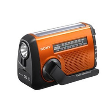展示出清 三多2F SONY 急難救助專用收音機 ICF-B88 可手搖、太陽能、USB 方式充電 LED 照明