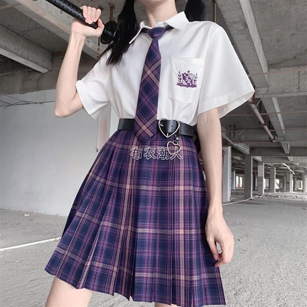 新年禮物韓版JK制服襯衣百褶裙基礎款水手服學院風套裝校服班服女