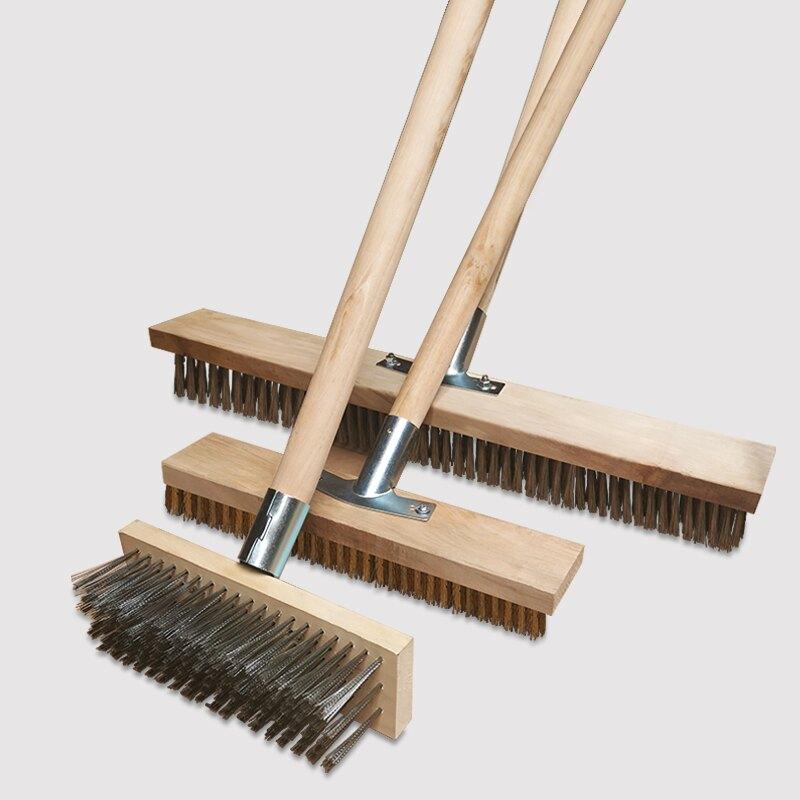 地板刷 長柄不銹鋼絲刷子板刷地戶外洗地去青苔除污清潔鐵絲刷硬毛地板刷【大掃除】【DD32124】