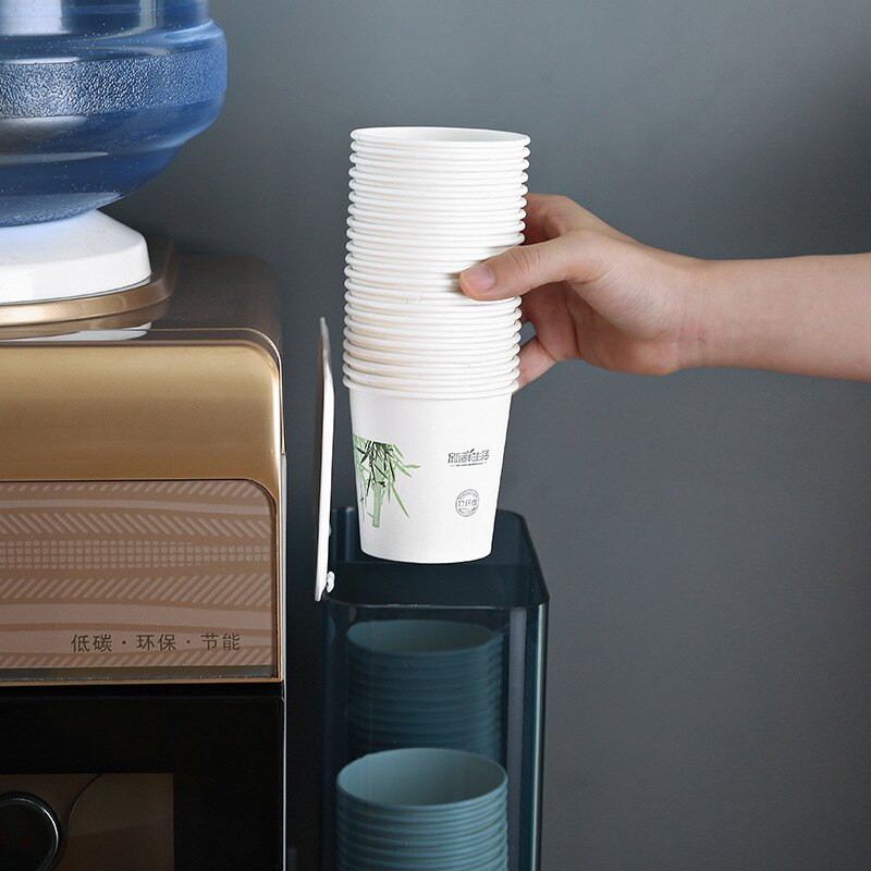 一次性杯子架自動取杯器創意免打孔紙杯架飲