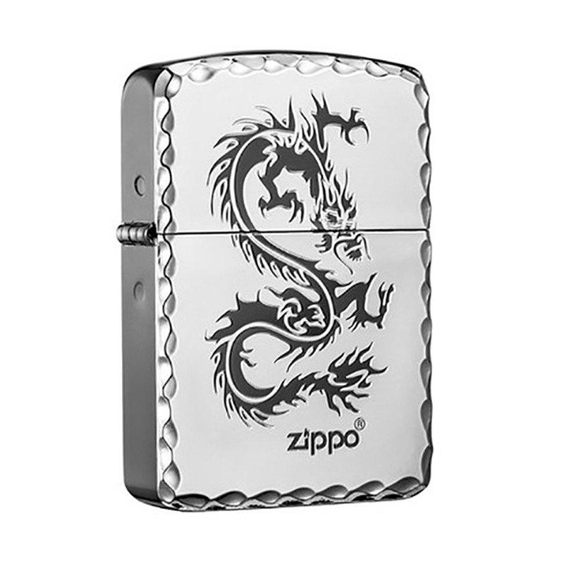 【ZIPPO官方旗艦店】 1941復刻銀龍防風打火機 ZA-1-18B