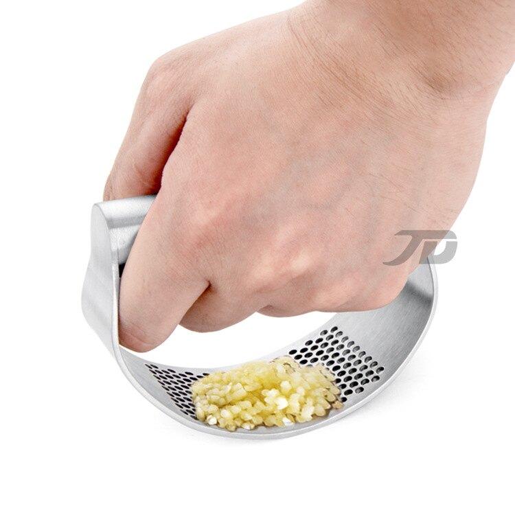 廚房多功能弧形壓蒜器 不銹鋼430手動蒜