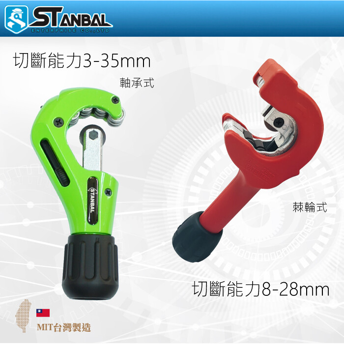 stanbal/史丹堡 棘輪式切管刀/8-28mm棘輪切管器x1 +刀片x2